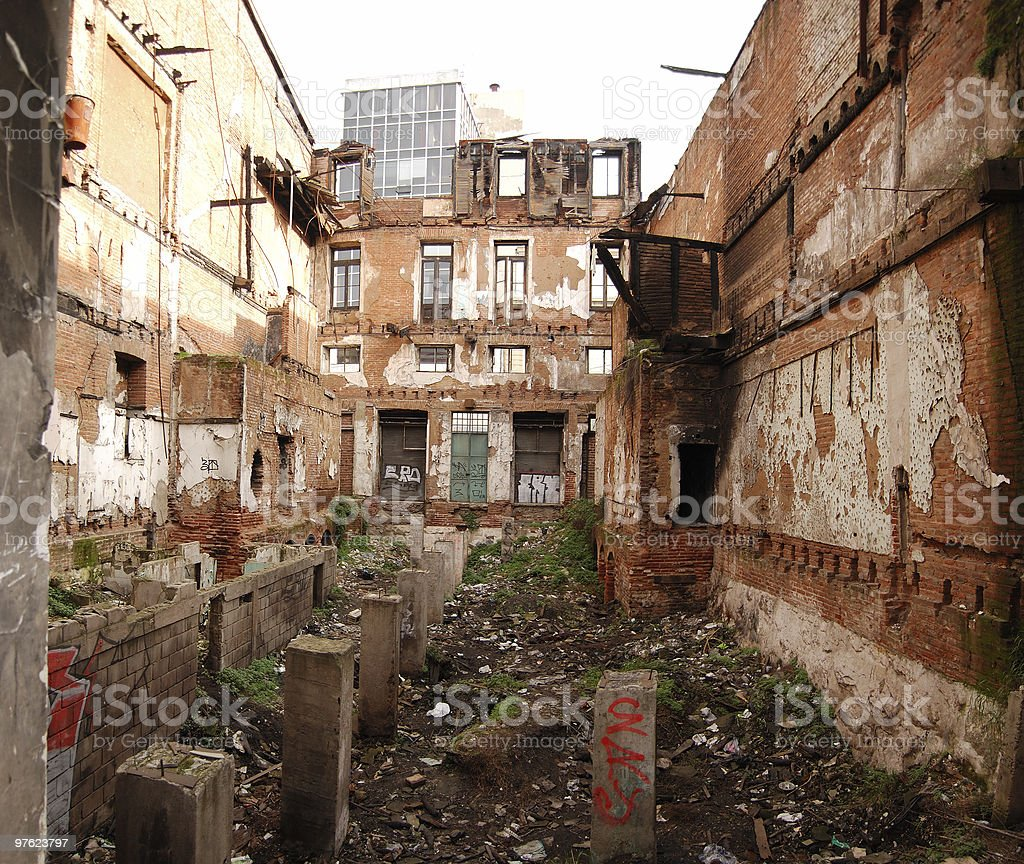 Old Building in Ruins royalty-free stock photo