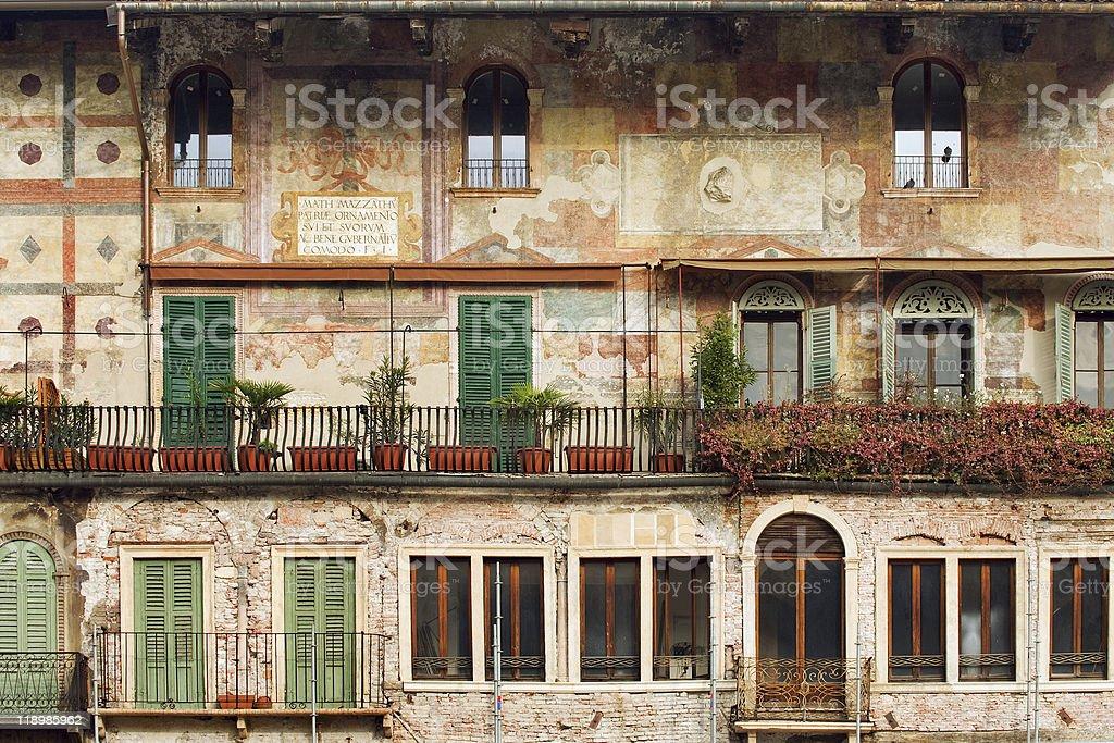 Old building in Verona stock photo