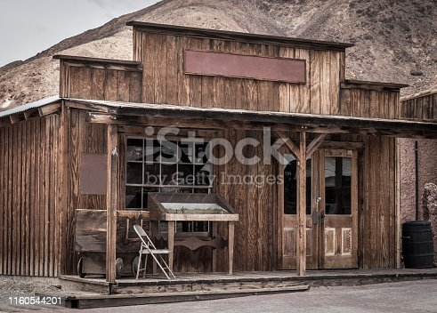 Old building on wild west town in America