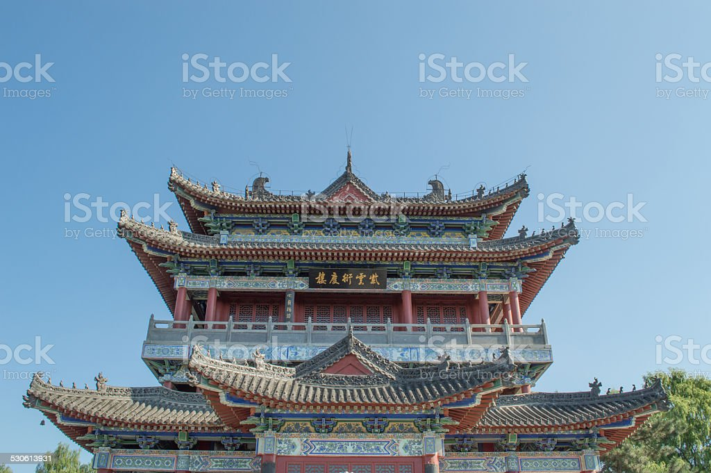 old building of china stock photo