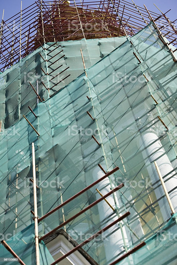 Old building restoring royalty-free stock photo