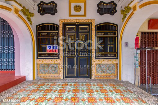 istock PHUKET, THAILAND - SEPTEMBER 28, 2014 : Old building Sino Portuguese style in Phuket on September 18, 2014 in Phuket, Thailand. Old building is a very famous tourist destination of Phuket. 653319044
