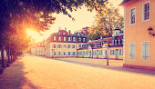 istock Old buildings in evening sunlight in Wilhelmsbad 471421985