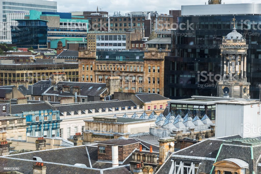 old buildings in the center of Glasgow, UK foto de stock royalty-free