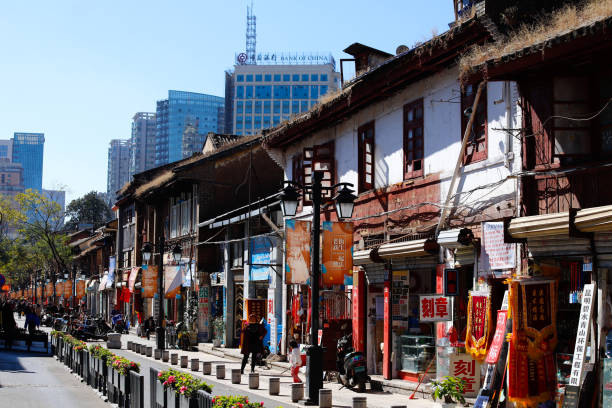 Alte Gebäude im Zentrum von Kunming. Yunnan, China – Foto