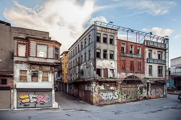 Old Buildings in Unkapani stock photo