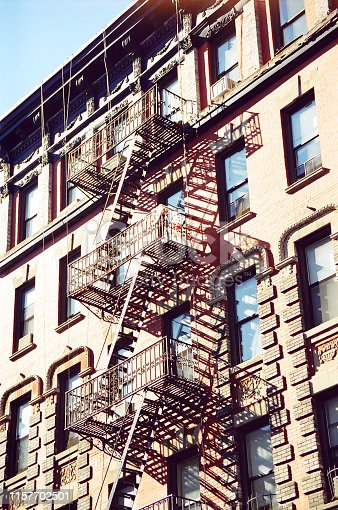 istock old buildings with firestairs 1157702501