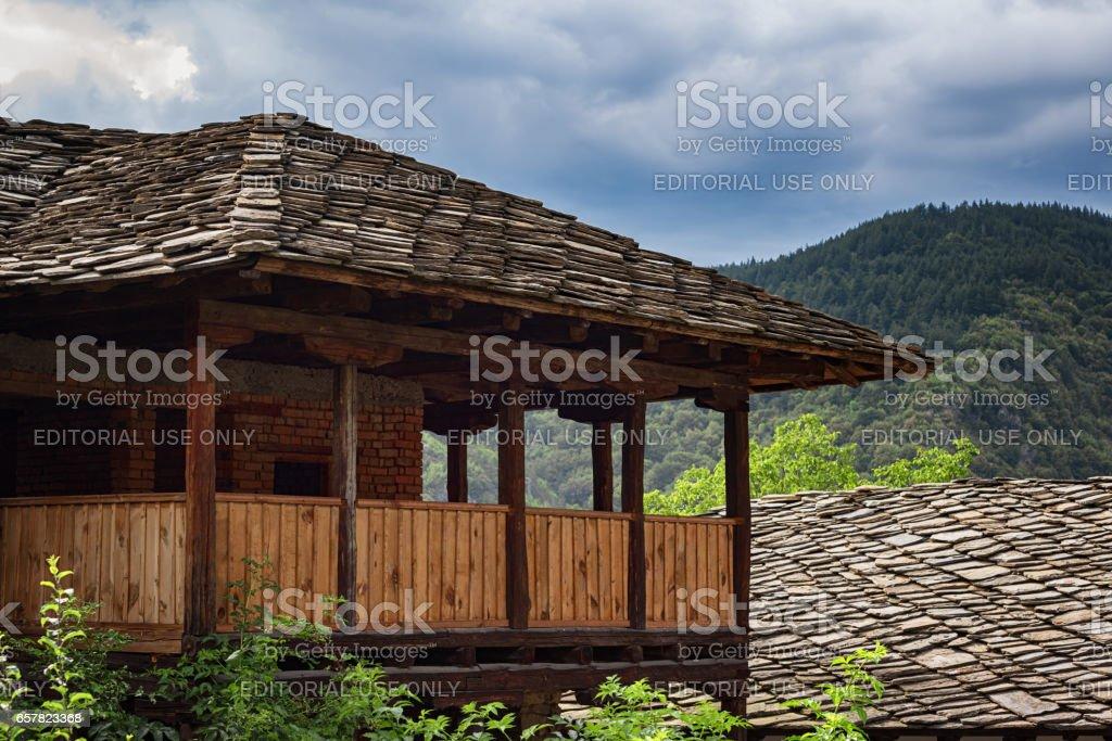 The village of Kovachevitsa, Bulgaria - August 3, 2016: Old Bulgarian...