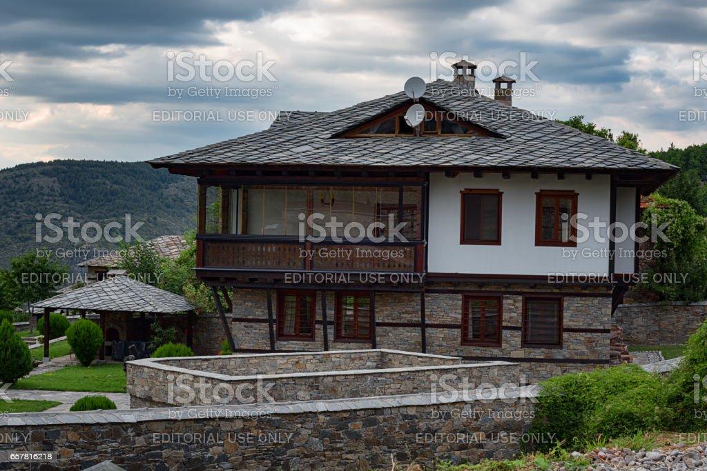 The village of Leshten, Bulgaria - August 3, 2016: Old Bulgarian...