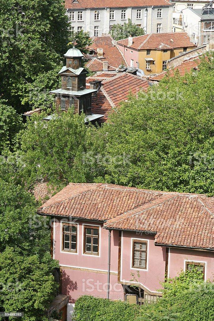 Old búlgaro ciudad foto de stock libre de derechos