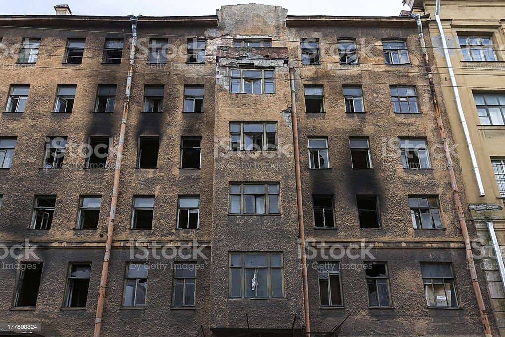 Old burned building royalty-free stock photo