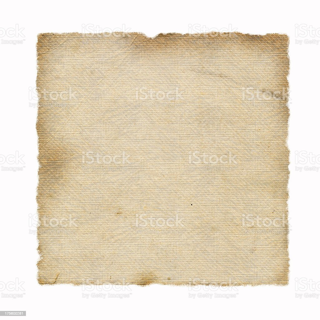Old, Burned, Textured Paper (XL) royalty-free stock photo