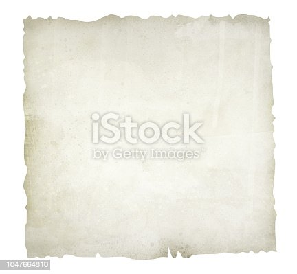 891131294istockphoto Old, burnt paper isolated on white background illustration 1047664810