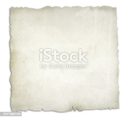 891131294istockphoto Old, burnt paper isolated on white background illustration 1047665194