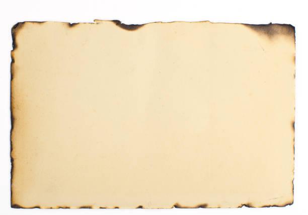 vieja textura de papel quemado - quemar fotografías e imágenes de stock