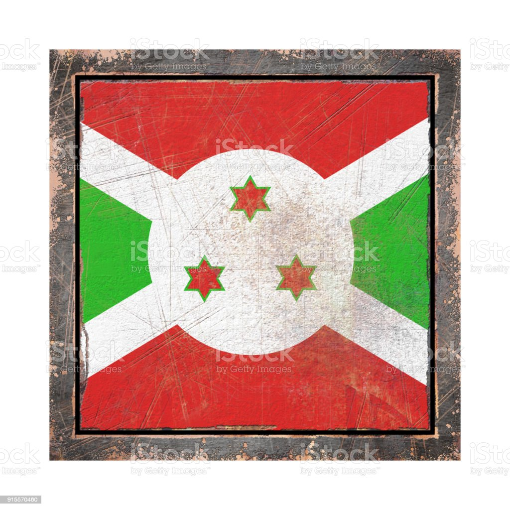 Old Burundi flag stock photo