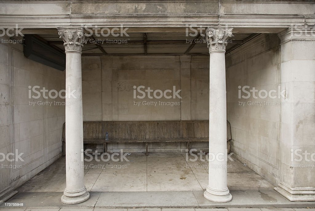 Old Bus Shelter stock photo