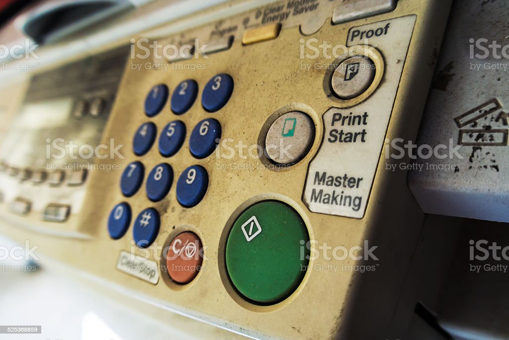 Old Business Copier and Fax stock photo