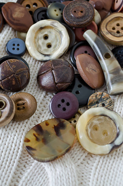 Old Buttons stock photo