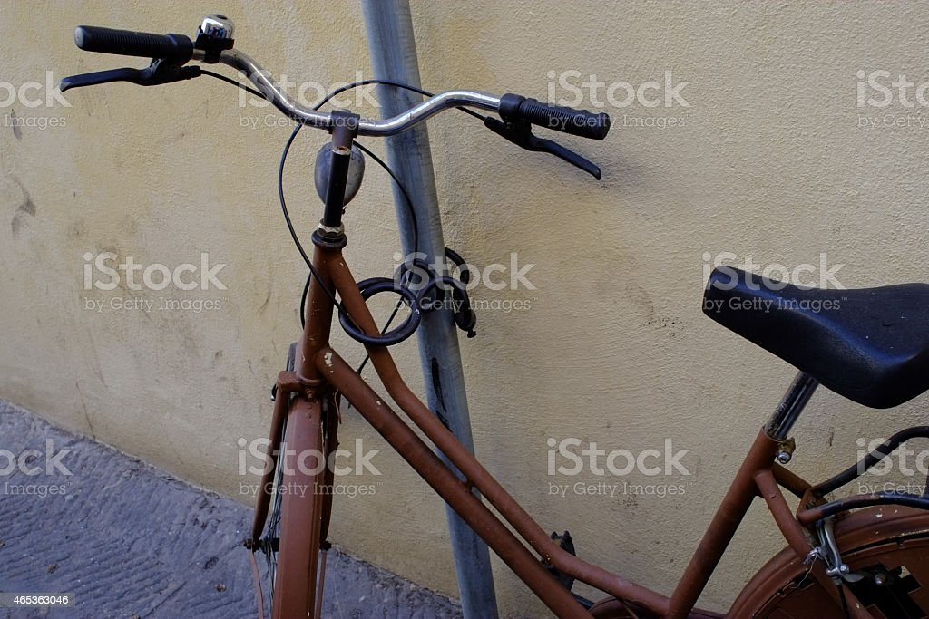 Old bycicle stock photo