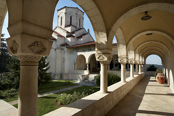 old byzantine architecture - belgrade serbia stock photos and pictures