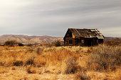 An old run-down cabin in Arizona.