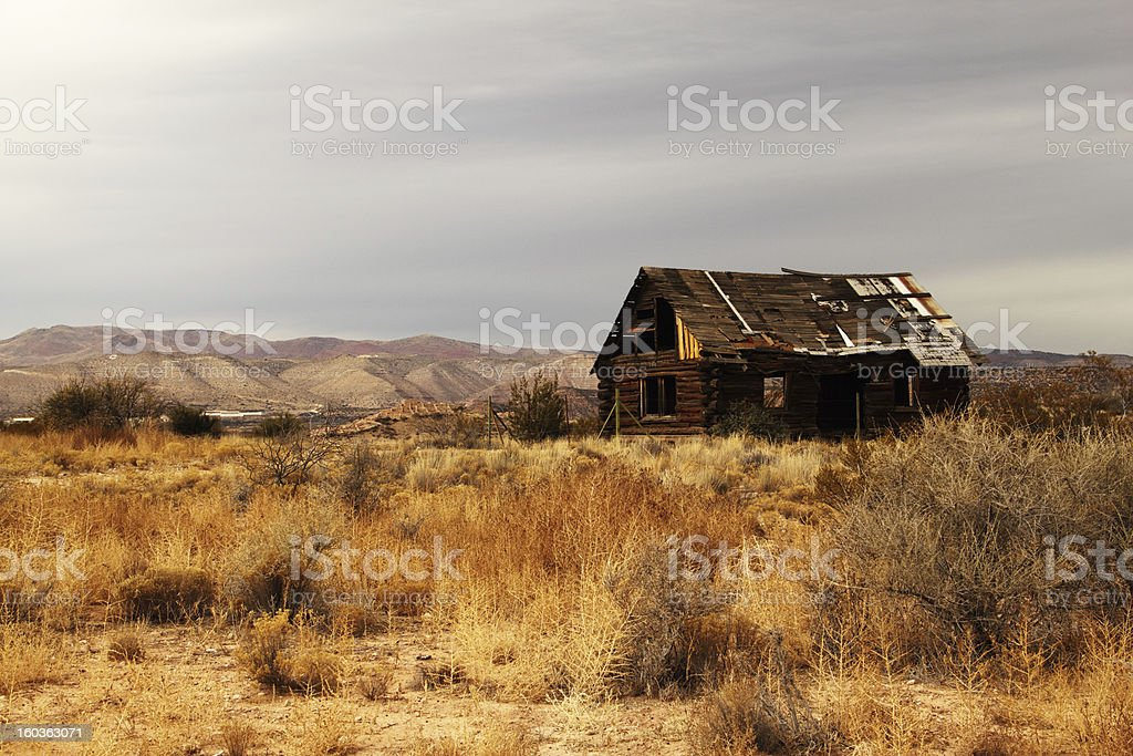 Old Cabin Arizona stock photo