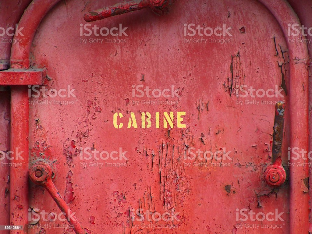 Old Cabin Door royalty-free stock photo