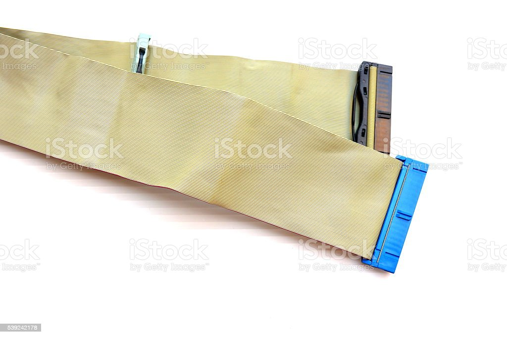 Old cable IDE for computer royalty-free stock photo