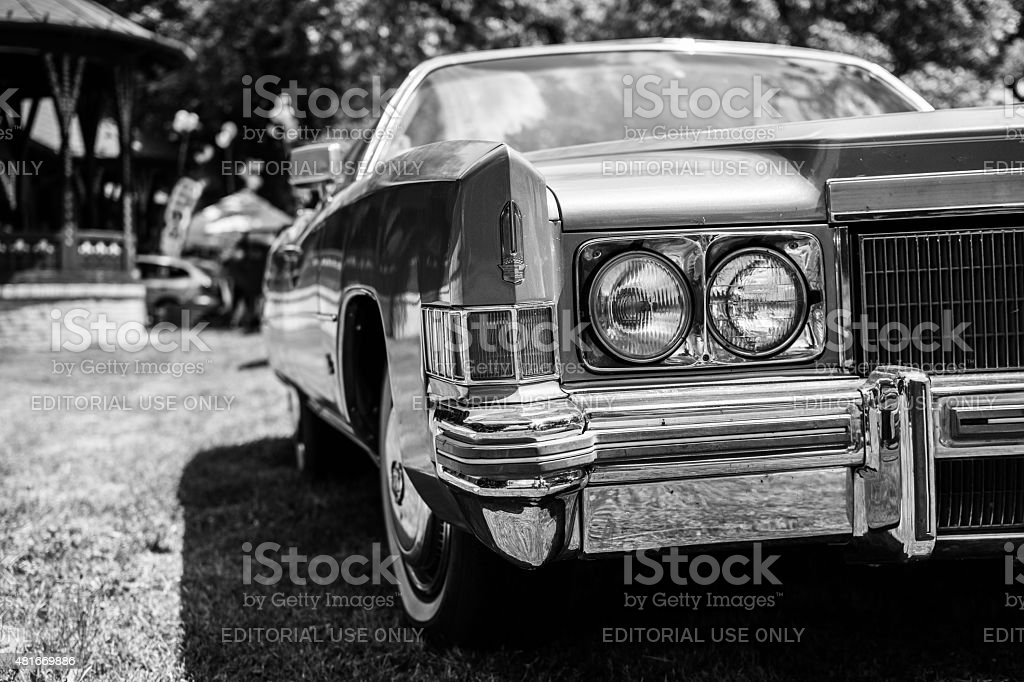 Old Cadillac eldorado on annual oldtimer car show stock photo