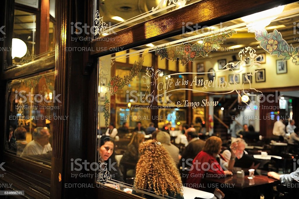 Old Cafe, Buenos Aires, Argentina, stock photo