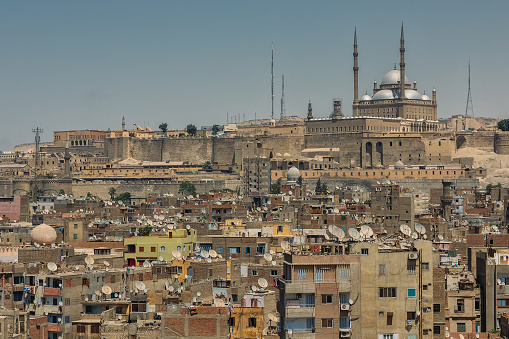 468444004 istock photo Old Cairo cityscape with view on the Citadel and Alabaster mosque. 1098364176