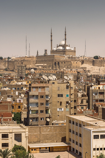 468444004 istock photo Old Cairo cityscape with view on the Citadel and Salahaddin mosque 1125597409