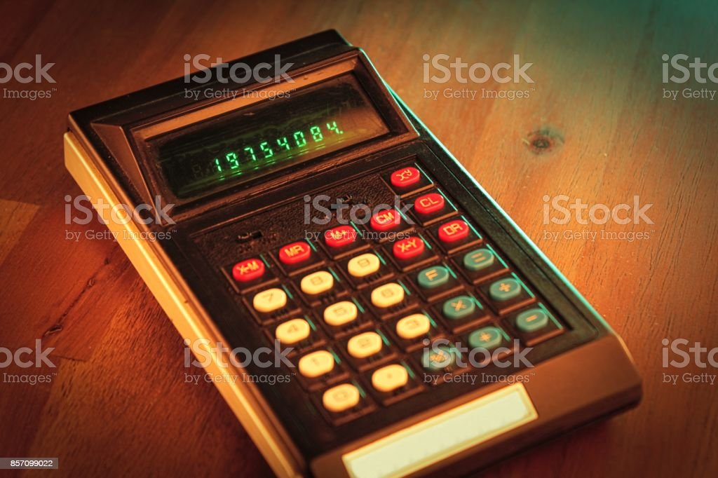 old calculator stock photo