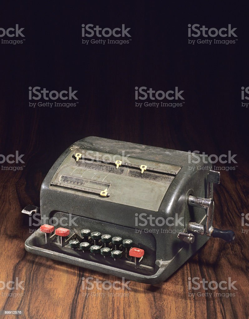 Old calculator royalty-free stock photo