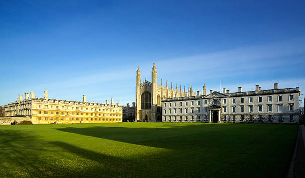 old cambridge college buildings - cambridge university stock photos and pictures