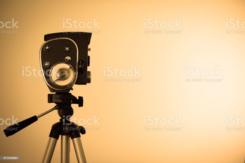 Old camcorder stock photo