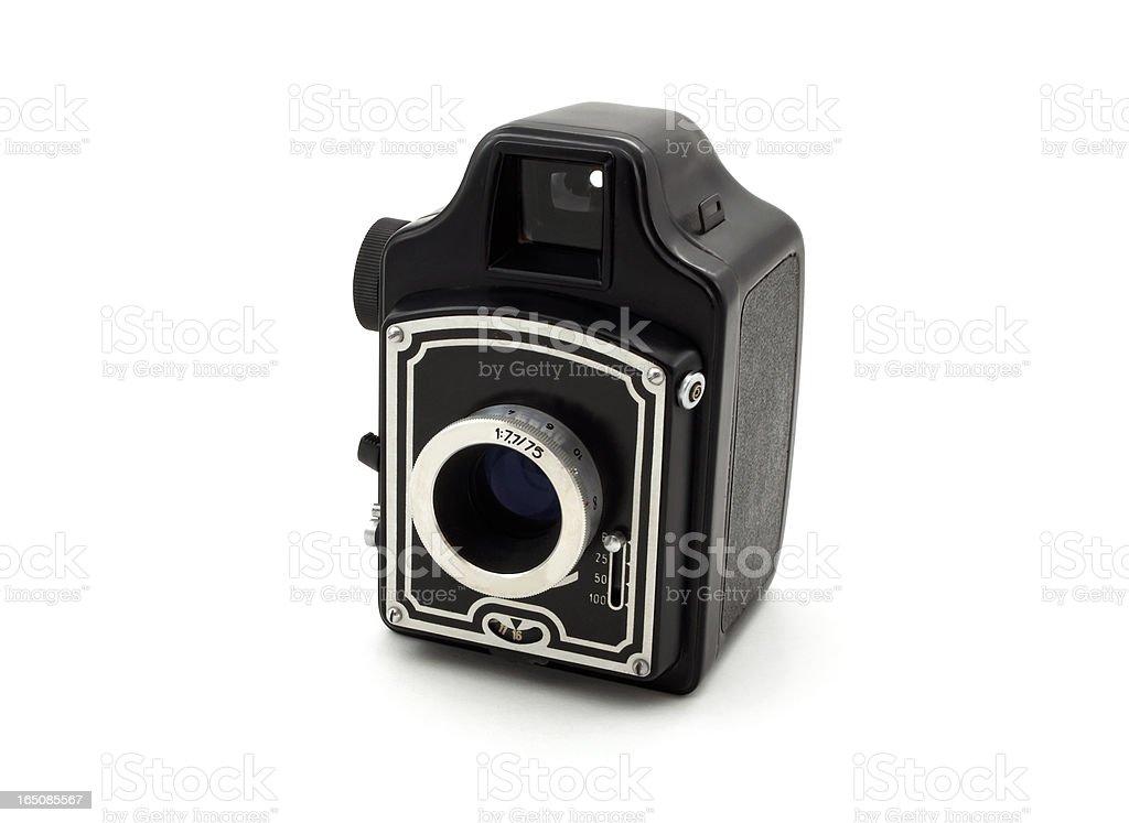Old camera isolated on white background royalty-free stock photo