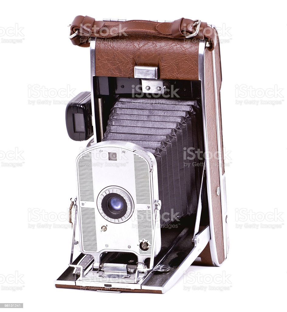 Old camera isolated on white. royalty-free stock photo