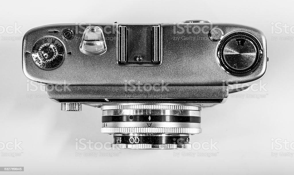 Old Camera Looking Down stock photo