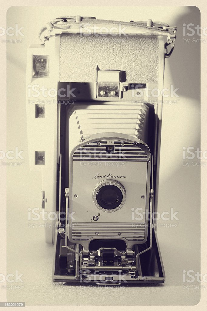 Old Camera With Bellows - Retro Object Series stock photo