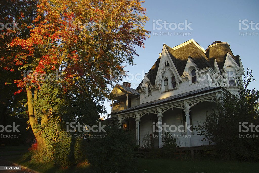 Old Canadian village house royalty-free stock photo