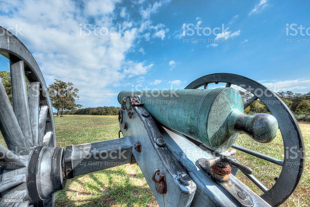 Old cannon in Manassas National Battlefield Park Virginia stock photo