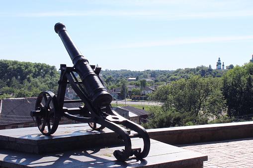 old cannon in park of Chernihiv