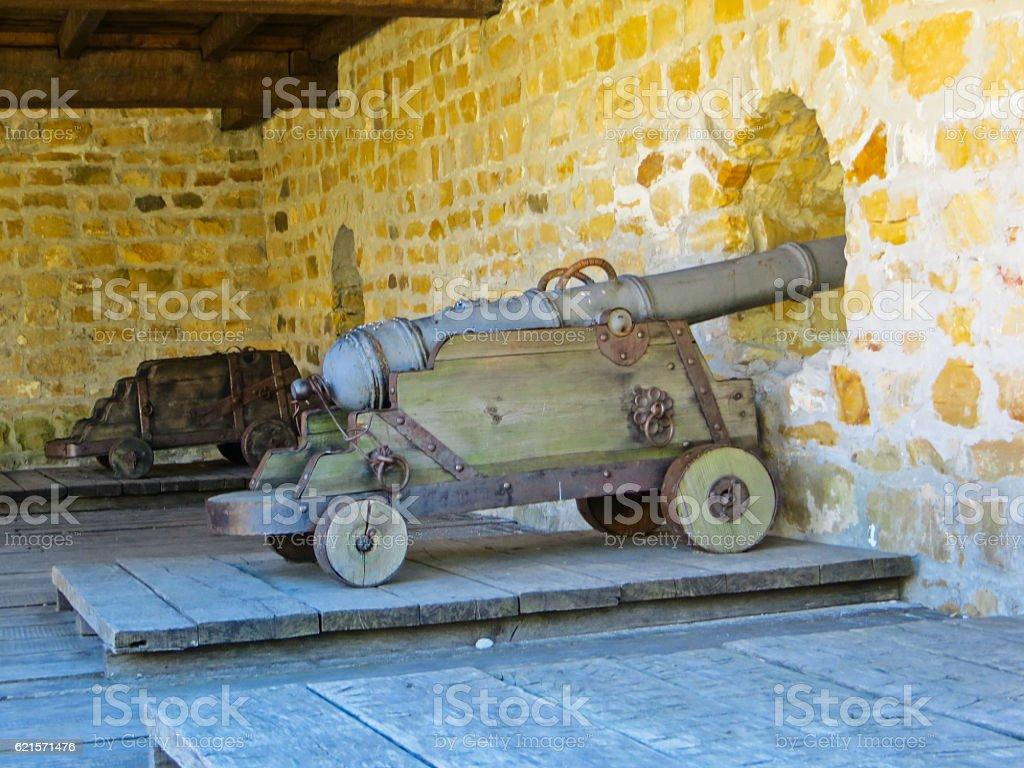 Old cannon on a bastion photo libre de droits
