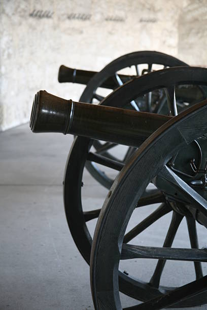 Old cannon cannon from history civil war memorial minnesota stock pictures, royalty-free photos & images