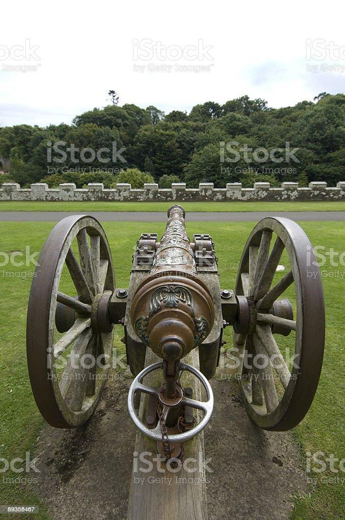 Old cannon royaltyfri bildbanksbilder