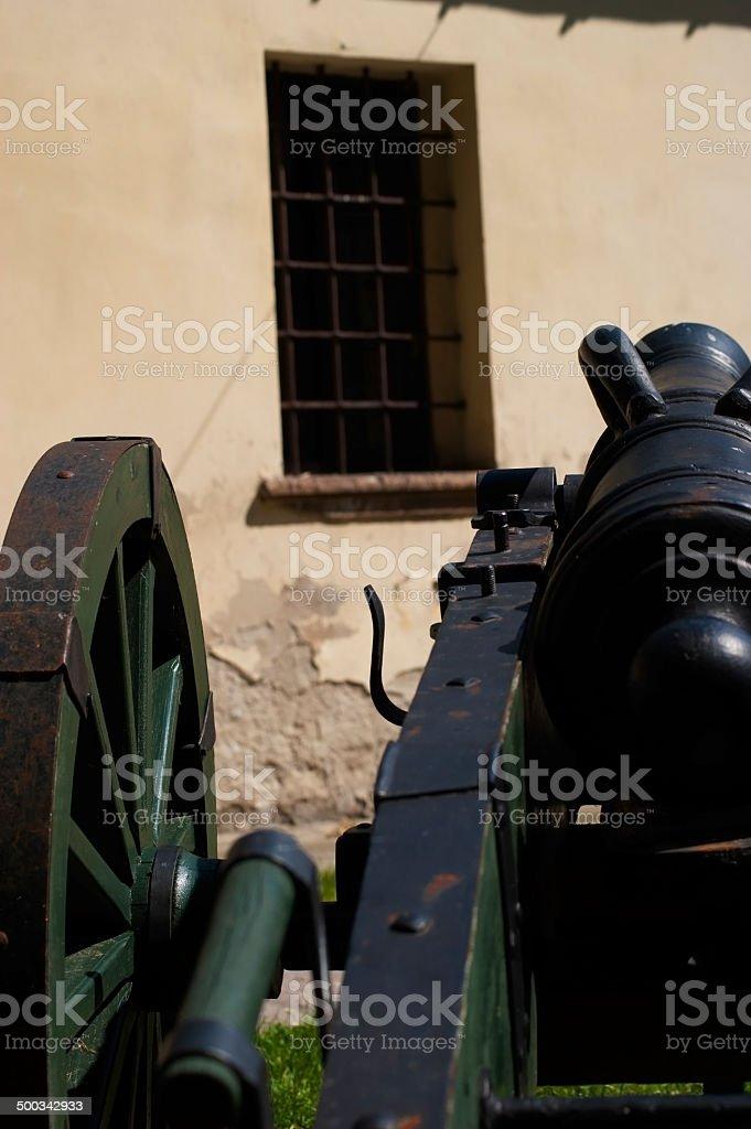 Old cannon, replica. stock photo