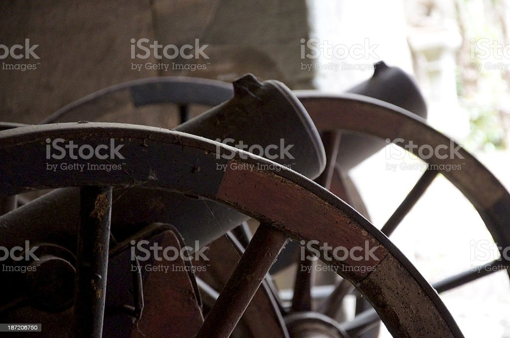 Old Cannons royalty-free stock photo