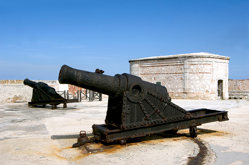 Old canon at fort of Morrow - Cuba